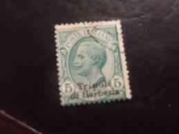 TRIPOLI DI BARBERIA 1909 5 C USATO - Bureaux Etrangers