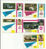Cars - Trafic Signs - Soccer Plyers - 5 X Portuguese Pocket Calendars 1989 - Calendriers