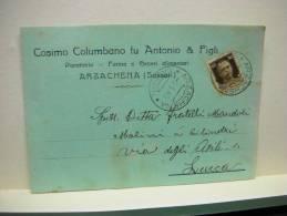 ARZACHENA  -- SASSARI  --- COSIMO COLUMBANO FU ANTONIO E FIGLI -- PANETTERIA - Sassari