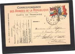 Carte Postale  Militaire Mod A1 SP 93 - Cachet Trésor Et Postes 1915 - Marcofilie (Brieven)