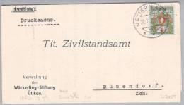 Heimat ZH Uetikon Am See 1926-09-22 Portofreiheitsbrief - Franchise