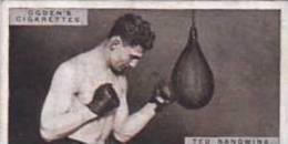 Ogdens Vintage Cigarette Card Pugilists In Action 1928 No 37 Ted Sandwina - Ogden's