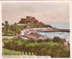 R J Hill Vintage Cigarette Card Views Of Interest 1939 3rd Series No 124 Mont Orgueil Castle Jersey - Cigarette Cards