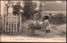 CPA Folklore - Laitière - Environs De Quimper - Le Départ Pour La Ville - Quimper
