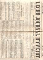 JOURNAL L´ECHO JOURNAL D´YVETOT - 5 AOUT 1865 - 1850 - 1899