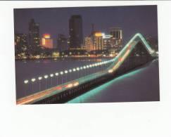 Portugal Cor 23519 - MACAU MACAO - A NIGHT VIEW OF MACAU TAIPA BRIDGE AND PRAIA GRANDE BAY - China