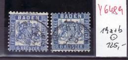 Baden Nr.  19 A+b  O ( Y6489 )  Siehe Scan Vergrößert ! - Bade