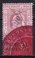 INDE  EDOUARD  VII    SPECIAL  ADHESIVE   5  RPS - India (...-1947)