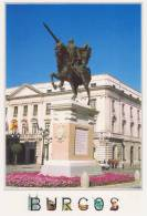 """ANSICHTSKARTEN/POSTAL   City Of BURGOS """"ESTATUA DE EL CID"""" (SPANIEN)  DL-1391 - Burgos"""