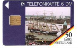 Deutschland - O 594  04/94 - 50 Jahre Deutschland - 800 Jahre Hamburger Hafen - Schiff - Ship - Hamburg - O-Series : Customers Sets