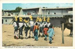 Réf : F -13-012 : The Korhare In The Corn Dance At Santo Domingo Indian Pueblo .New Mexico - Etats-Unis