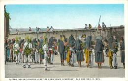 Réf : F -13-013 : Pueblo Indians Singing (part Of Corn Dance Ceremony) . San Domingo.New Mexico - Etats-Unis