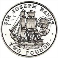 SOUTH GEORGIA & S. SANDWICH 2 POUNDS 2001 SIR JOSEPH BANKS - Otros – América