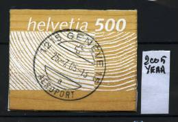 SVIZZERA - HELVETIA - Year 2005 - Francobollo Autoadesivo Di Legno - Stamp To Wood - Timbrato - Stamped. - Used Stamps