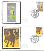 België    FDC    Zijde    2501 / 2502    Europa   Trazegnies - 1991-00