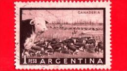 ARGENTINA - Usato - 1958 - Cattle Ranch (Ganaderia) - Animali - Bovini   - 1 - Gebruikt