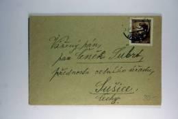 Germany: Böhmen Und Mähren 1943 Cover Brno To  Susice