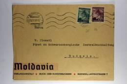 Germany: Böhmen Und Mähren 1941 Company Cover Budweis Mixed Stamps