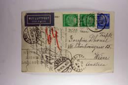 Germany: Deutsch Amerikanische Seepost, Airmail, NY Paris, Wien, 1934 Very Nice Cancels, SS New York, Mixed Stamps. - Deutschland