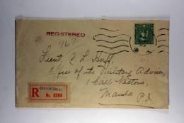 China Registered Cover Shanghai To Manila, 1930ties Waxsealed POS Passenger Dep. Shanghai. - 1912-1949 Republiek