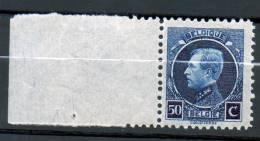 COB 187 Montenez 50c  Neuf SANS Charnière Dentelure 11 1/2 Avec Superbe Bord De Feuille - 1921-1925 Petit Montenez