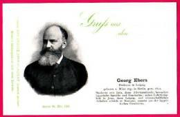 PC5916 UB Postcard: DGJ: Egyptologist Georg Ebers - Famous People