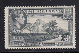 Gibraltar MH Scott #110a 2p The Rock, Northside, Perf 14  - George VI - Gibraltar