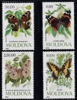 B0171 MOLDOVA 1993, SG 94-97  Butterflies  MNH - Moldova