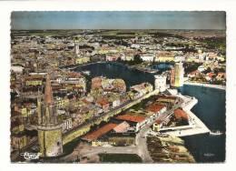 Cp, 17, La Rochelle, Vue Aérienne Sur La Tour Des 4 Sergents, Les Remparts, Le Port - La Rochelle