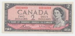Canada 2 Dollars 1954 (1972 - 1973) VF+ CRISP Banknote P 76c 76 C - Canada