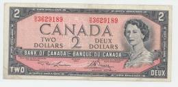 CANADA 2 DOLLAR 1954 (Lawson-Bouey 1973-75) VF P 76d 76 D - Canada