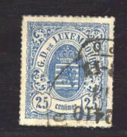 Luxembourg  :  Mi  20 A  (o)   , Signé - 1859-1880 Armoiries
