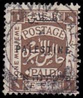 Palestine Scott # 48, 1m Dark Brown (1922), Used - Palestine