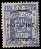 Palestine Scott # 57, 13m Ultramarine (1922), Used - Palestine