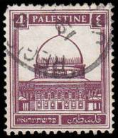 Palestine Scott # 66, 4m Violet Brown (1942) Mosque Of Omar, Used - Palestine