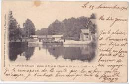 CPA 02 - ANIZY LE CHATEAU - ECLUSE ET PONT DU CHEMIN DE FER SUR LE CANAL - France