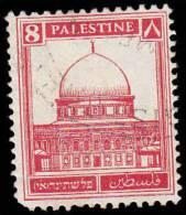 Palestine Scott # 72, 8m Scarlet (1932) Mosque At Omar, Used - Palestine