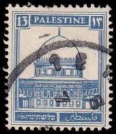 Palestine Scott # 74, 13m Ultramarine (1927) Mosque At Omar, Used - Palestine