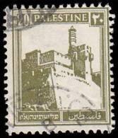 Palestine Scott # 77, 20m Olive Yellow (1927) Citadel At Jeruslem, Used - Palestine