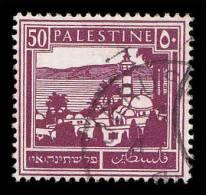 Palestine Scott # 78, 50m Violet Brown (1927) Tiheraia And Sea Of Galilee, Used - Palestine