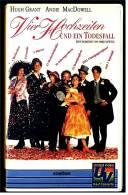 VHS Video Komödie  -  Vier Hochzeiten Und Ein Todesfall   -  Mit  Andie MacDowell, Hugh Grant, Rowan Atkins -  Von 1993 - Cassettes Vidéo VHS