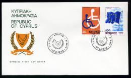 27237) Zypern - Michel 425 / 426 - FDC - Europarat, Europakongreß Behinderte - Zypern (Republik)