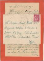 N°289 SEUL LAC CAD HEXA ST CLAIR DE RIVIERE HTE GARONNE 20/9/37 REGGIMENTO ARTIGLIERA  D ARMATA 6E TORINO ITALIA - Frankreich