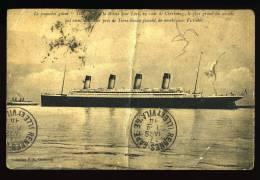 Cpa  Du  50  Cherbourg Le Paquebot  TITANIC De La White Star Line En Rade Il Vient De Couler Près Terre Neuve      PUO1 - Cherbourg