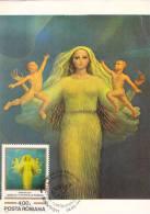 SABIN BALASA, PAINTER, ROMANIAN PEAPLE GENESIS, CM, MAXICARD, CARTES MAXIMUM, OBLI. FDC, 1982, ROMANIA - Art