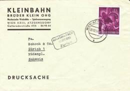 Oostenrijk Birds 1959 Tetrao Urogallus Letter Kleinbahn - Hühnervögel & Fasanen