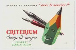 Buvard Criterium & Sergent-major Gilbert Blanzy-Poure, Signé D'après Jacquelin - Buvards, Protège-cahiers Illustrés