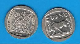 SUD AFRICA -   5  Rand  1995  KM140  - Wildebeest   - Animal Coin - Sudáfrica