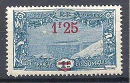 COTE DES SOMALIS N� 117  NEUF* TTB