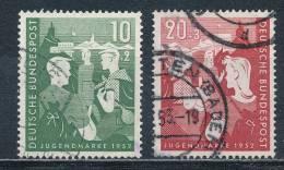 Bund 153/54 Gestempelt Mi. 40,- - [7] Repubblica Federale